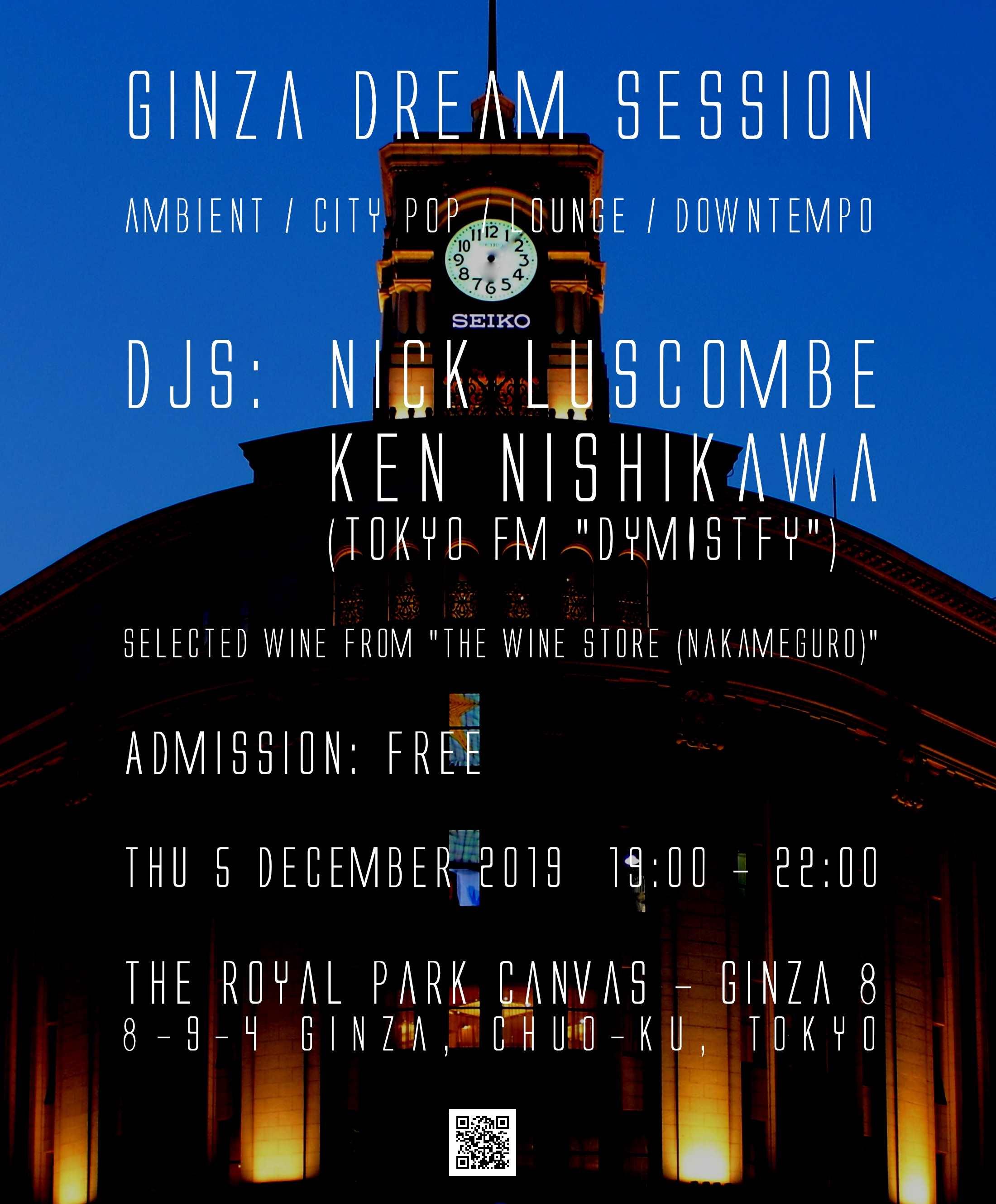 5th December (Thu) 19:00~ Tokyo FM DEMYSTIFY 「GINZA DREAM SESSION」