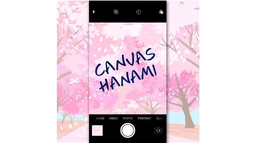 "An online event ""CANVAS HANAMI"""